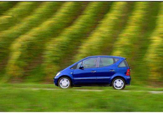 MERCEDES-BENZ Klasa A W 168 II hatchback niebieski jasny boczny lewy