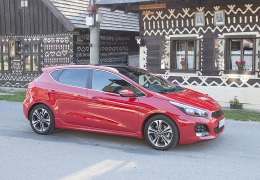 KIA Ceed IV hatchback czerwony jasny przedni prawy