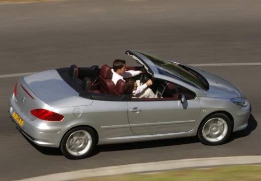 PEUGEOT 307 kabriolet silver grey tylny prawy