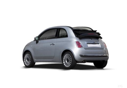 FIAT 500 C I kabriolet silver grey tylny lewy