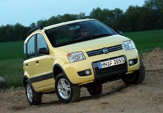 FIAT Panda II hatchback żółty przedni prawy