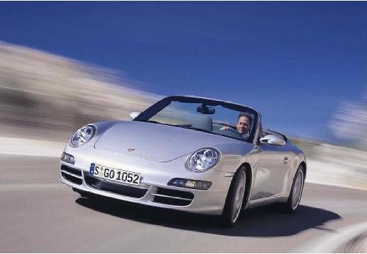 PORSCHE 911 Cabrio 997 kabriolet silver grey przedni lewy