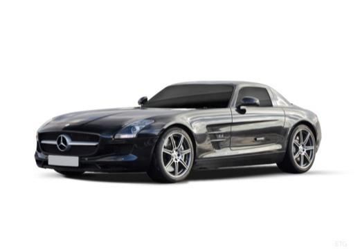 MERCEDES-BENZ SLS coupe czarny przedni lewy