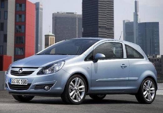 OPEL Corsa D I hatchback niebieski jasny przedni lewy