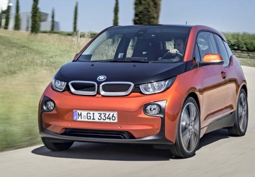 BMW i3 hatchback pomarańczowy przedni lewy