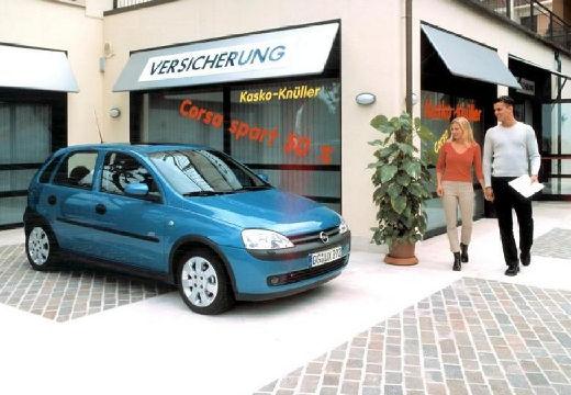 OPEL Corsa C I hatchback niebieski jasny przedni prawy