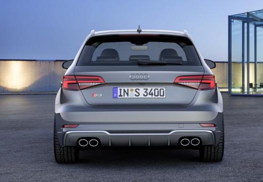 AUDI A3 Sportback 8V II hatchback szary ciemny tylny
