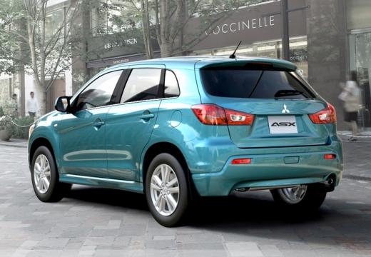 MITSUBISHI ASX hatchback niebieski jasny tylny lewy