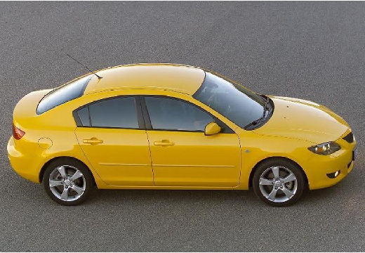 MAZDA 3 I sedan żółty boczny prawy