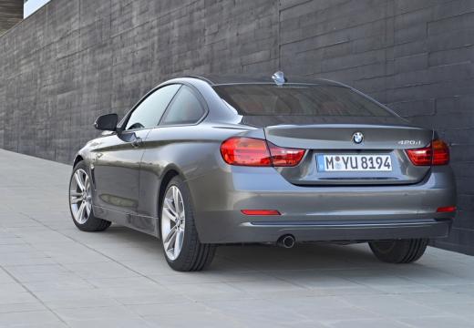 BMW Seria 4 F32 coupe silver grey tylny lewy