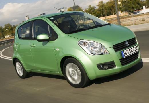 SUZUKI Splash hatchback zielony przedni prawy