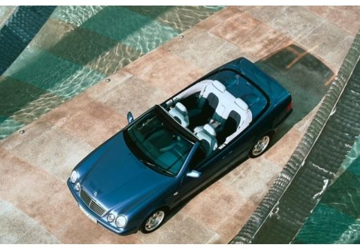 MERCEDES-BENZ Klasa CLK CLK Cabriolet A 208 kabriolet niebieski jasny górny przedni