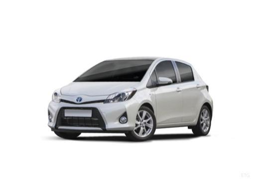 Toyota Yaris V hatchback biały przedni lewy
