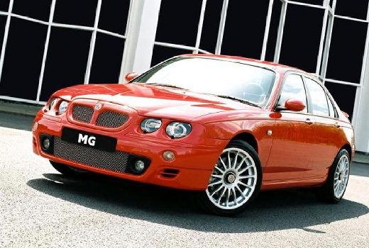 MG ZT sedan pomarańczowy przedni lewy