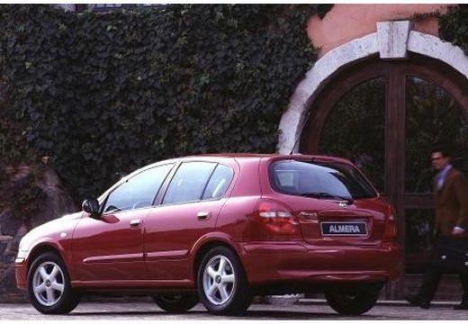 NISSAN Almera II I hatchback czerwony jasny tylny lewy