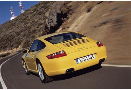 PORSCHE 911 coupe żółty tylny lewy