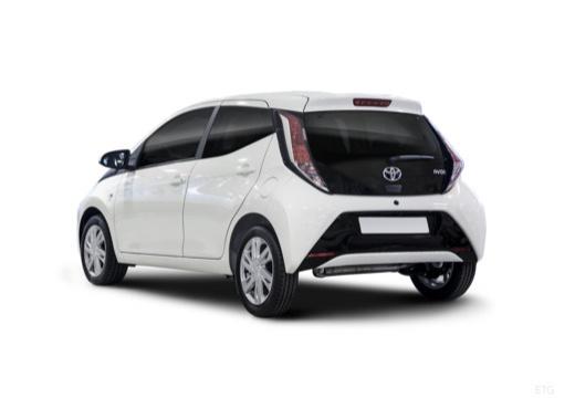 Toyota Aygo IV hatchback biały tylny lewy