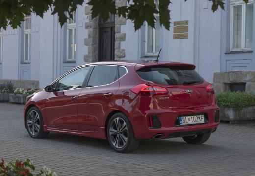 KIA Ceed IV hatchback czerwony jasny tylny lewy