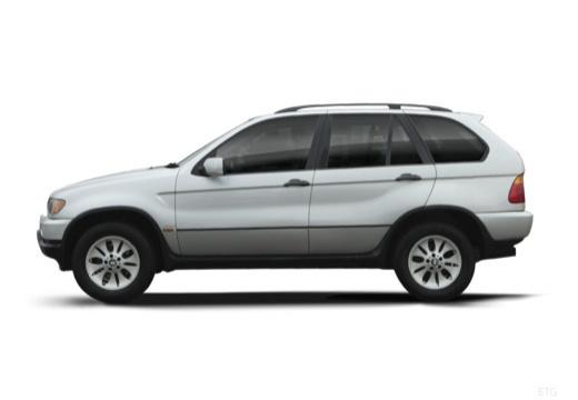 BMW X5 X 5 E53 I kombi silver grey boczny lewy