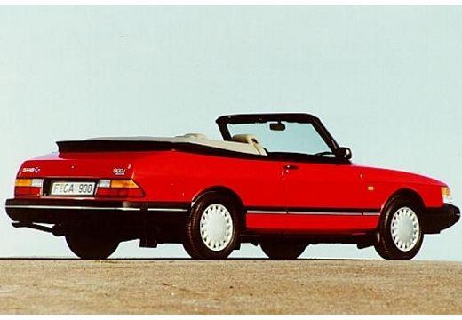 SAAB 900 kabriolet czerwony jasny tylny prawy