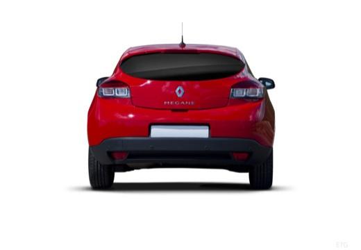 RENAULT Megane III Coupe I hatchback czerwony jasny tylny