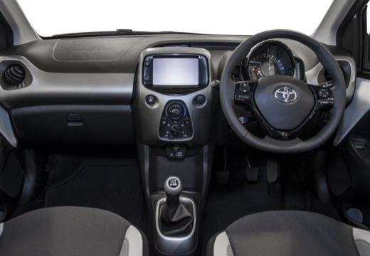 Toyota Aygo IV hatchback biały tablica rozdzielcza