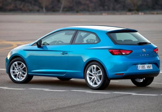 SEAT Leon IV hatchback niebieski jasny tylny lewy