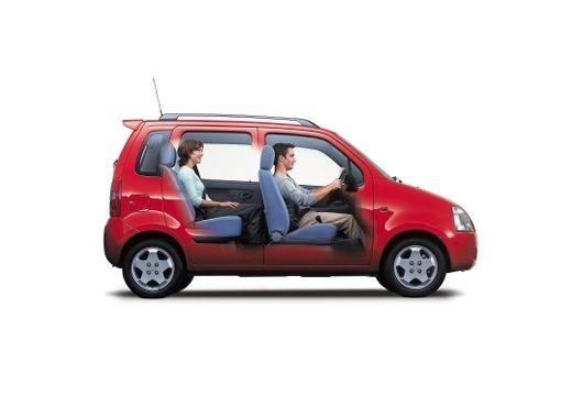 SUZUKI Wagon R+ hatchback czerwony jasny boczny prawy