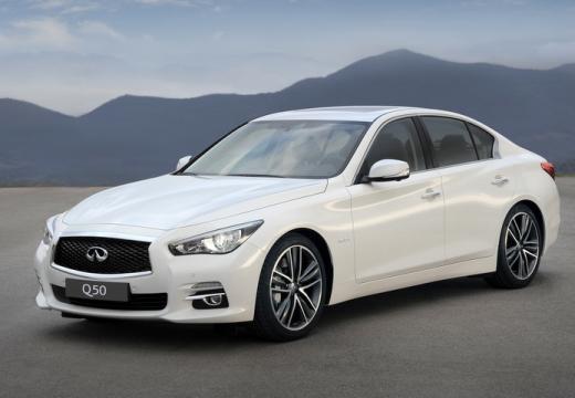 INFINITI Q50 sedan biały przedni lewy