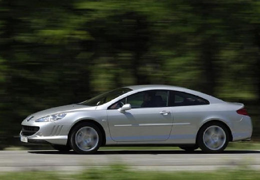 PEUGEOT 407 coupe silver grey boczny lewy