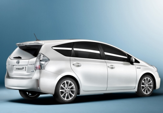 Toyota Prius kombi biały tylny prawy