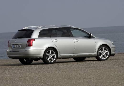 Toyota Avensis IV kombi silver grey tylny prawy