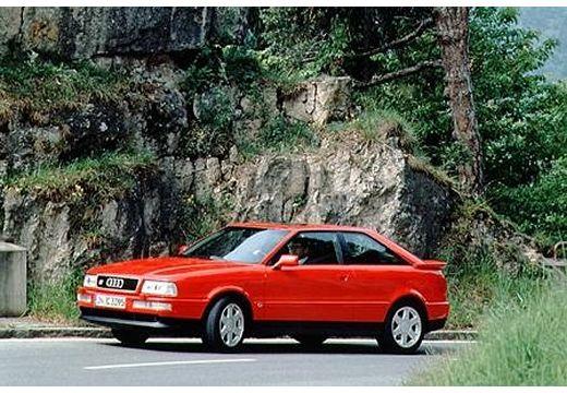 AUDI 80 89 coupe czerwony jasny przedni lewy