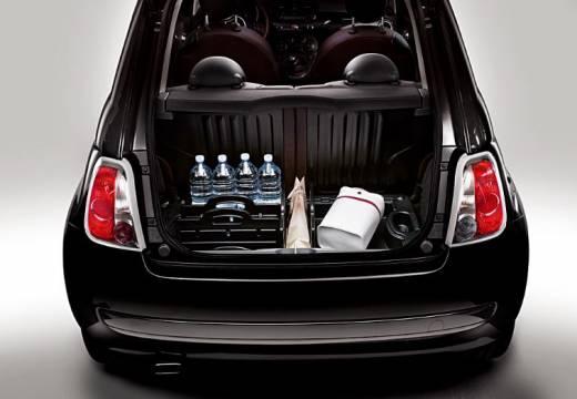FIAT 500 I hatchback czarny przestrzeń załadunkowa