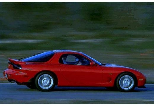 MAZDA RX-7 coupe czerwony jasny tylny prawy