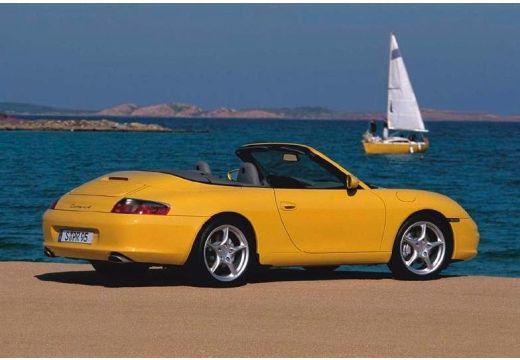 PORSCHE 911 kabriolet żółty tylny prawy