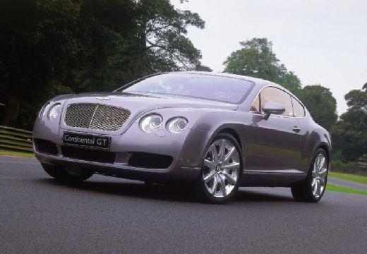 BENTLEY Continental coupe silver grey przedni lewy