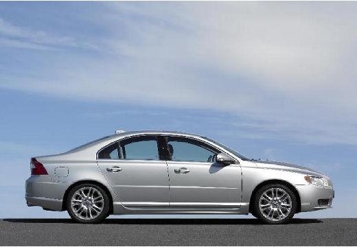 VOLVO S80 sedan silver grey boczny prawy
