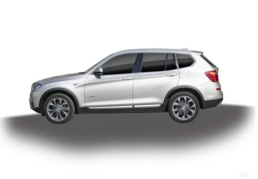 BMW X3 X 3 F25 II kombi silver grey boczny lewy