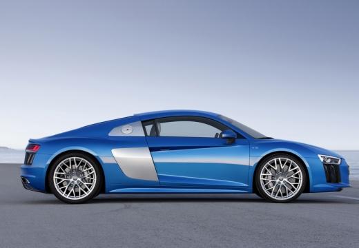 AUDI R8 coupe niebieski jasny boczny prawy