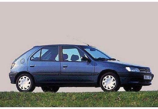 PEUGEOT 306 I hatchback niebieski jasny przedni prawy