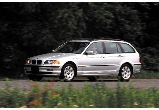 BMW Seria 3 kombi silver grey przedni lewy