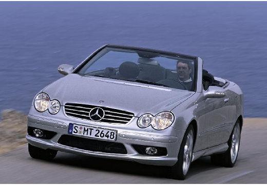 MERCEDES-BENZ Klasa CLK kabriolet silver grey przedni lewy