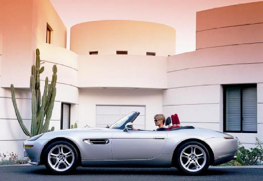 BMW Z8 roadster silver grey боковой левый