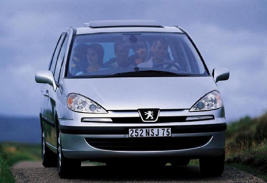 PEUGEOT 807 van silver grey przedni prawy