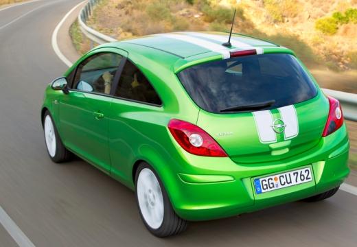 OPEL Corsa D II hatchback zielony tylny lewy