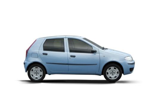 FIAT Punto II II hatchback niebieski jasny boczny prawy