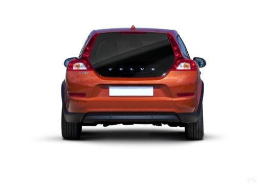 VOLVO C30 II hatchback pomarańczowy tylny