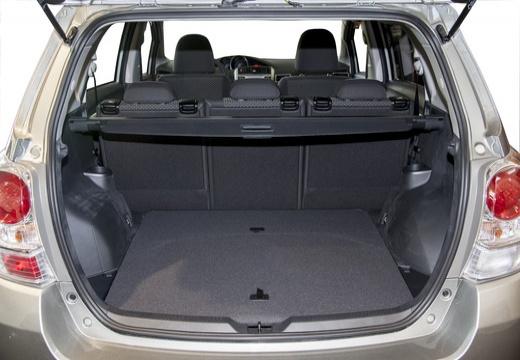 Toyota Verso II kombi mpv szary ciemny przestrzeń załadunkowa