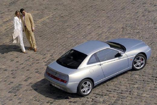 ALFA ROMEO GTV coupe silver grey tylny prawy